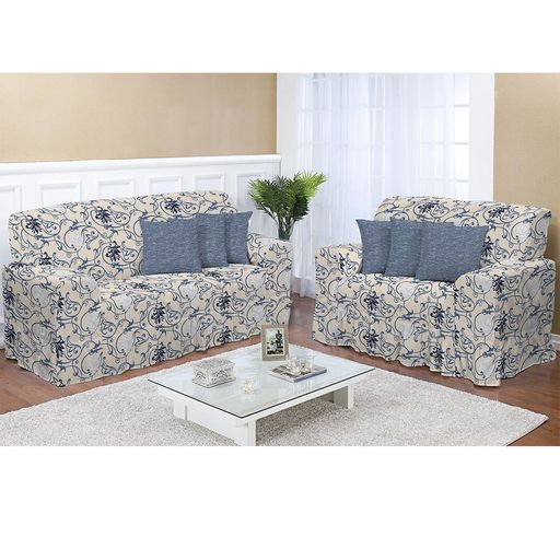 Kit-Capa-de-Sofa-Estampado-2-e-3-lugares-Decore-Azul-2-pecas