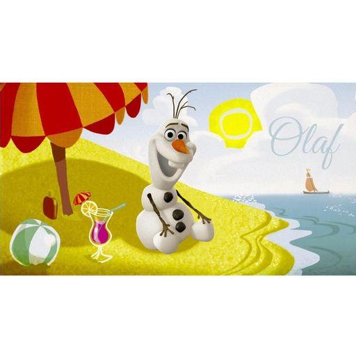 Toalha-de-Praia-Aveludada-Olaf-Transfer-Frozen