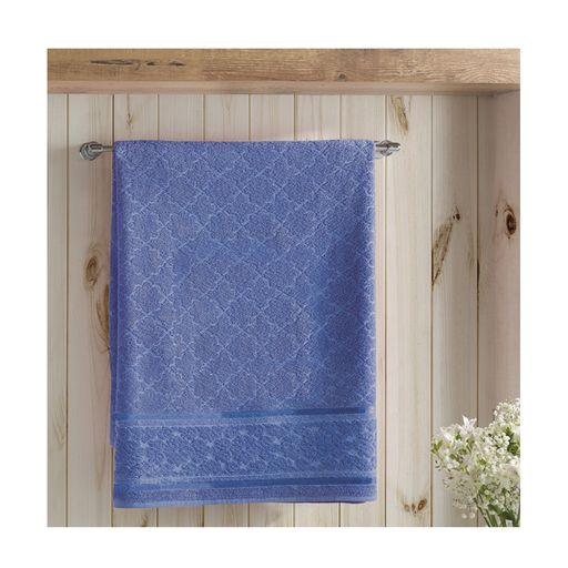 Toalha-de-Rosto-Felpudo-Liso-Jacquard-Confort-Azul-Escuro-Dohler