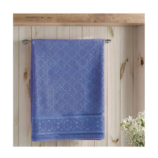 Toalha-de-Banho-Felpudo-Liso-Banhao-Jacquard-Confort-Azul-Escuro-Dohler