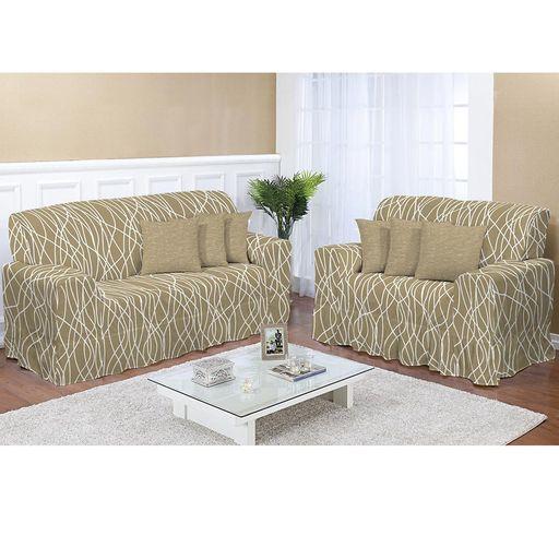 Kit-Capa-de-Sofa-Estampado-2-e-3-lugares-Decore-Ouro-2-pecas