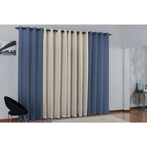 Cortina-de-Janela-para-varao-Duda-Prime-Azul-1-peca-Textil-Lar-