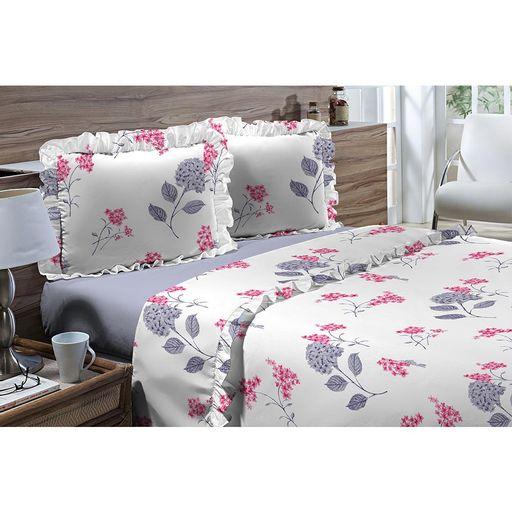 Jogo-de-Cama-Casal-180-fios-Romantique-Branco-com-Floral-Azul-4-pecas-Textil-Lar-