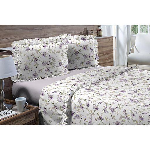 Jogo-de-Cama-Casal-180-fios-Romantique-Roxo-4-pecas-Textil-Lar