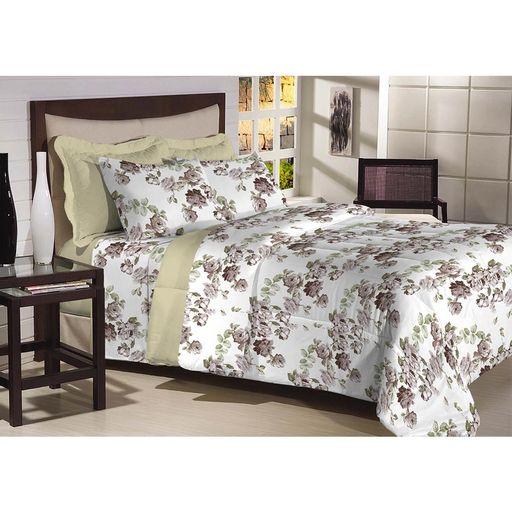 Edredon-Top-Confort-Verde-Floral
