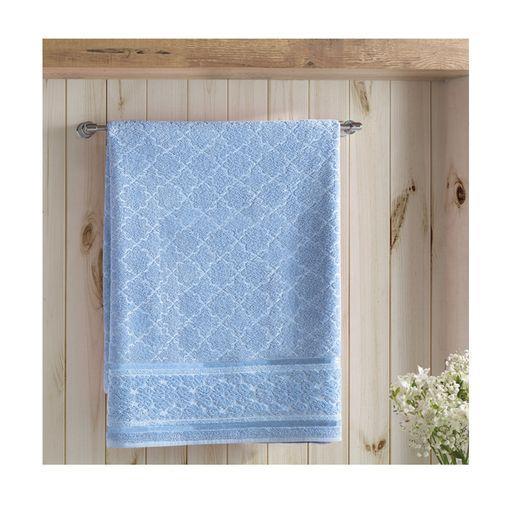 Toalha-de-Rosto-Felpudo-Liso-Jacquard-Confort-Azul-Claro-Dohler