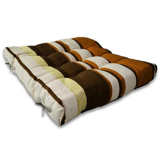 Assento-de-Cadeira-Ouro-Listrado