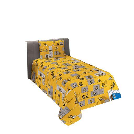 jogo-de-cama-solteiro-minions-amarelo