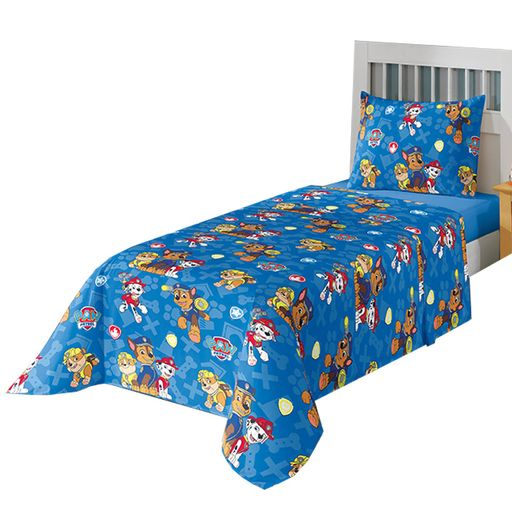 jogo-de-cama-solteiro-patrulha-canina-azul