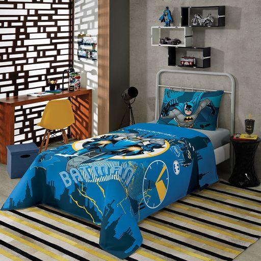 jogo-de-cama-solteiro-batman-azul-escuro