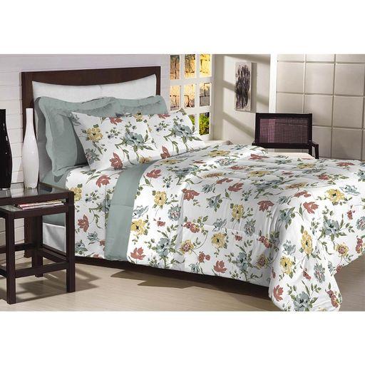 Edredon-Dupla-Face-Queen-200-fios-Top-Confort-Verde-Escuro-1-peca-Textil-Lar