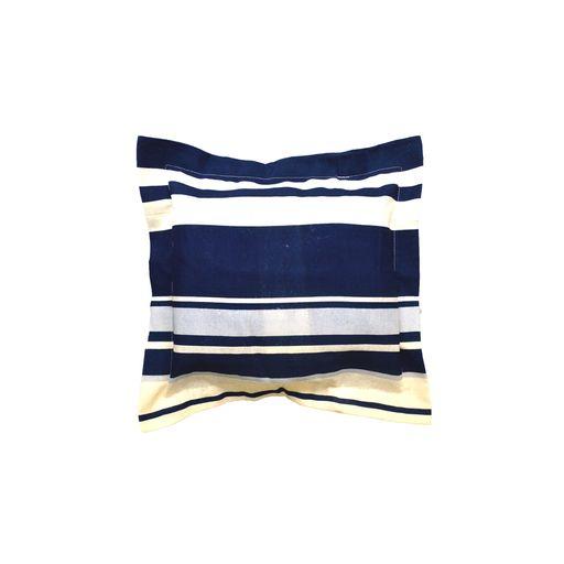 Almofada-Decore-Azul-Escuro-Listrado-40x40-com-aba-Textil-Lar