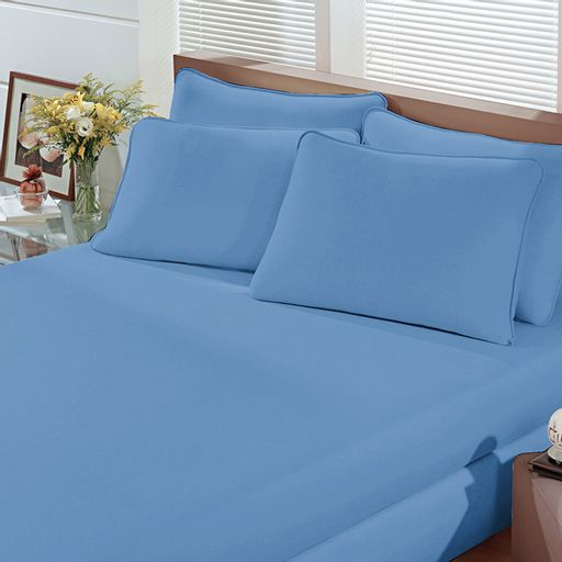 Lencol-Malha-Liso-com-Elastico-Solteiro-Azul-Serenity-Linha-Cores-Portallar-1-peca