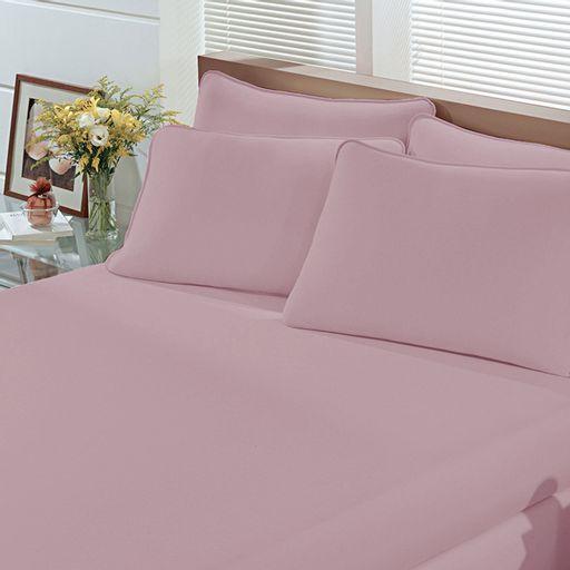 a1a3802e5e Lençol Malha Liso com Elástico Solteiro Rosa Quartz Linha Cores Portallar 1  peça. Produto Esgotado. Cama