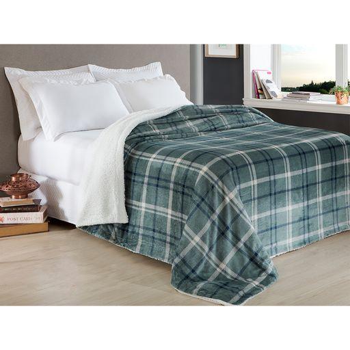 Manta-Escocia-Queen-Xadrez-Azul-Home-Design-Corttex