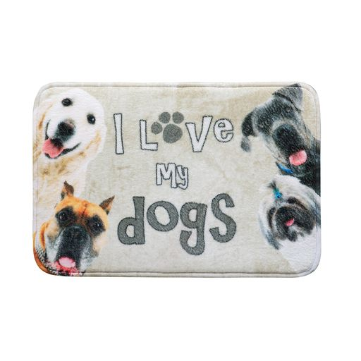 Tapete-de-Entrada-Grand-Pet-Dog-Foto-Bege-40cm-x-60cm-Attuale-Corttex