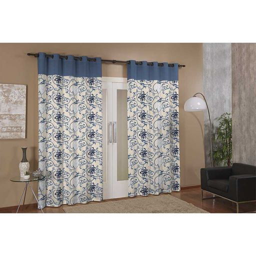 Cortina-de-Janela-para-Varao-Anna-Prime-Azul-Floral-Textil-Lar-