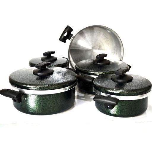 Jogo-de-Panela-Plus-Craqueado-Verde-5-Pecas-Cooklar