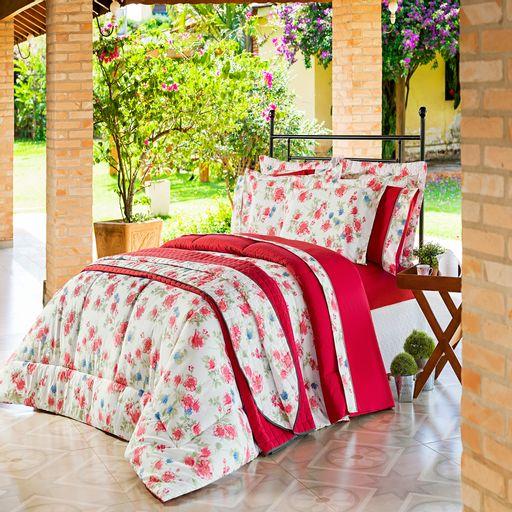 Jogo-de-Cama-Queen-150-Fios-Fontana-Floral-Vermelho-Ione-Enxovais-4-pecas-