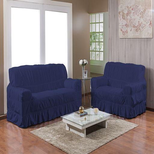 Kit-Capa-de-Sofa-25-elasticos-2-e-3-lugares-Gel-Prime-Azul-Marinho-2-pecas-