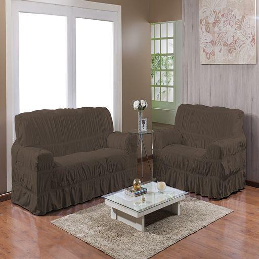 Kit-Capa-de-Sofa-25-elasticos-2-e-3-lugares-Gel-Prime-Marrom-2-pecas