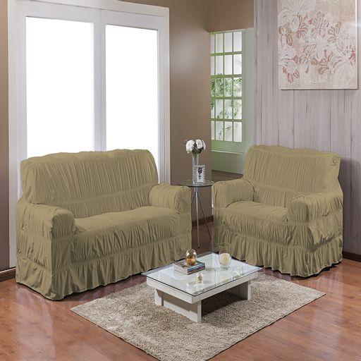 Kit-Capa-de-Sofa-25-elasticos-2-e-3-lugares-Gel-Prime-Marrom-Claro-2-pecas