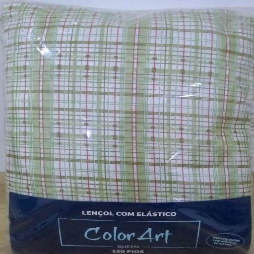 Lencol-de-Elastico-Queen-Microfibra-Xadrez-Verde-Color-Art-Corttex