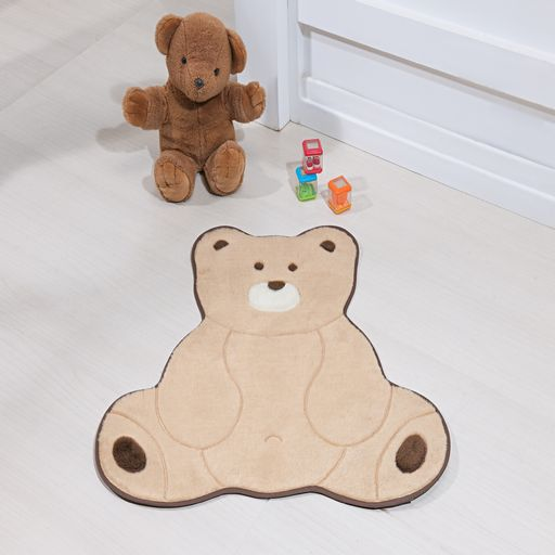 Tapete-Premium-Baby-Urso-Fofo-74cm-x-70cm-Bege-Guga-Tapetes