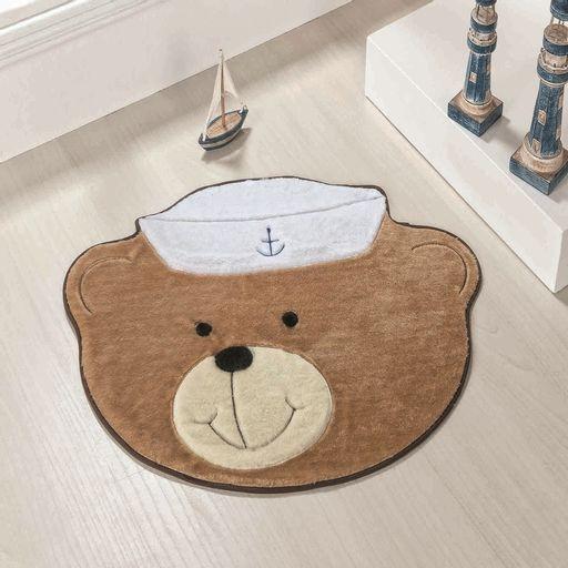 Tapete-Premium-Baby-Urso-Marinheiro-78cm-x-58cm-Bege-Guga-Tapetes-