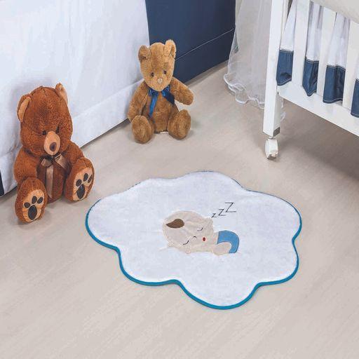 Tapete-Premium-Baby-Bebe-Nuvem-76cm-x-62cm-Azul-Turquesa-Guga-Tapetes