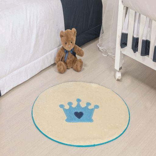 Tapete-Premium-Baby-Coroa-Baby-78cm-x-68cm-Azul-Turquesa-Guga-Tapetes-