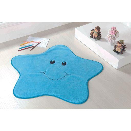 Tapete-Premium-Baby-Estrelinha-78cm-x-70cm-Azul-Turquesa-Guga-Tapetes