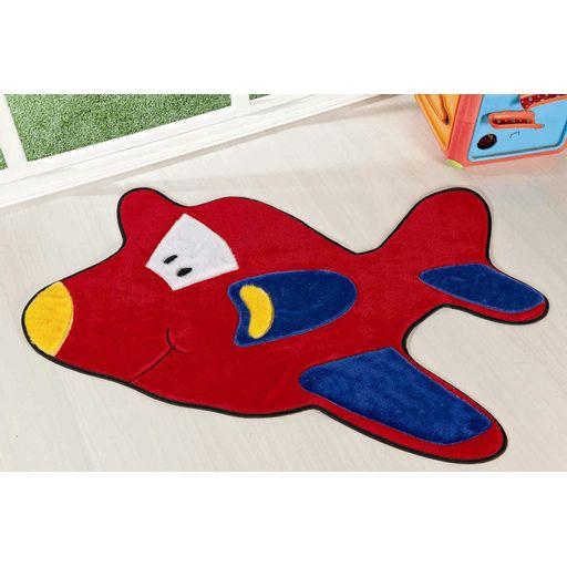 Tapete-Premium-Baby-Aviao-98cm-x-68cm-Vermelho-Guga-Tapetes