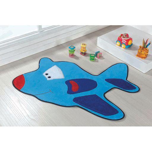Tapete-Premium-Baby-Aviao-98cm-x-68cm-Azul-Turquesa-Guga-Tapetes