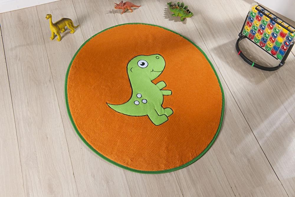Tapete Premium Baby Dino Baby 78cm x 68cm Laranja Guga Tapetes