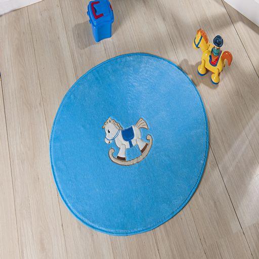 Tapete-Premium-Baby-Cavalinho-78cm-x-68cm-Azul-Turquesa-Guga-Tapetes