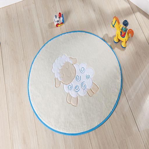 Tapete-Premium-Baby-Ovelhinha-78cm-x-68cm-Azul-Turquesa-Guga-Tapetes