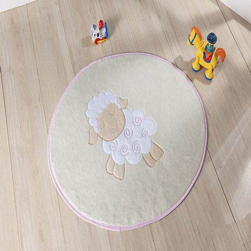 Tapete-Premium-Baby-Ovelhinha-78cm-x-68cm-Rosa-Guga-Tapetes-