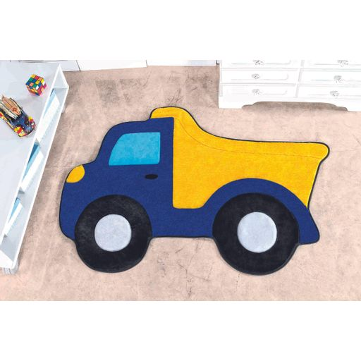 Tapete-Premium-Baby-Caminhao-Cacamba-87cm-x-58cm-Azul-Royal-Guga-Tapetes