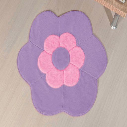 Tapete-Premium-Baby-Margarida-Dupla-70cm-x-70cm-Lilas-Guga-Tapetes