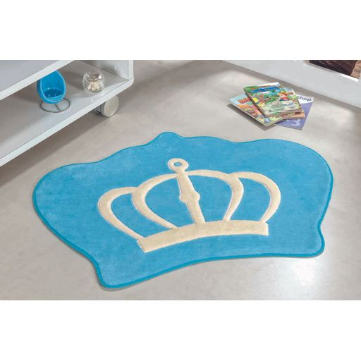 Tapete-Premium-Baby-Coroa-86cm-x-64cm-Azul-Turquesa-Guga-Tapetes