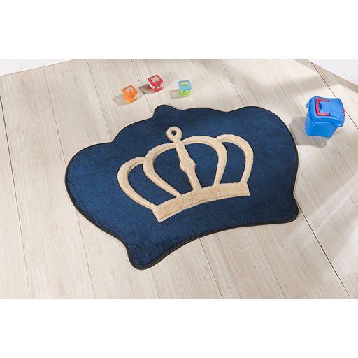 Tapete-Premium-Baby-Coroa-86cm-x-64cm-Azul-Marinho-Guga-Tapetes