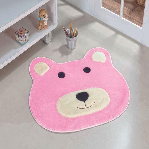 Tapete-Premium-Baby-Urso-74cm-x-64cm-Rosa-Guga-Tapetes