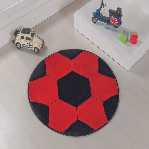 Tapete-Premium-Baby-Bola-65cm-Vermelho-Preto-Guga-Tapetes