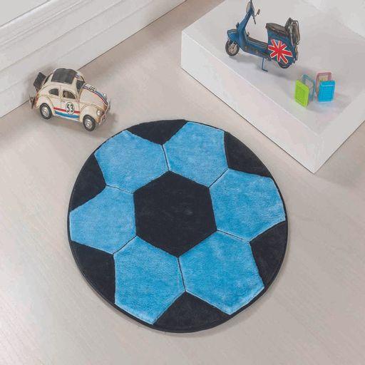 Tapete-Premium-Baby-Bola-65cm-Azul-Turquesa-Preto-Guga-Tapetes