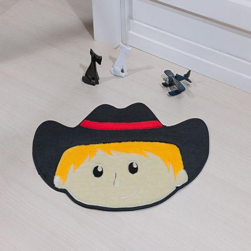 Tapete-Premium-Baby-Cowboy-78cm-x-55cm-Preto-Guga-Tapetes-