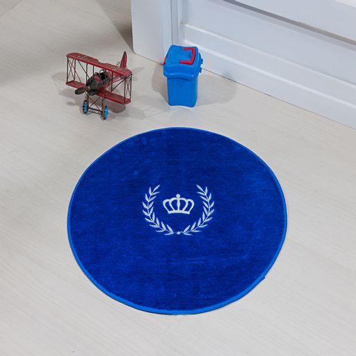 Tapete-Premium-Baby-Coroa-Ramo-65cm-Azul-Royal-Guga-Tapetes