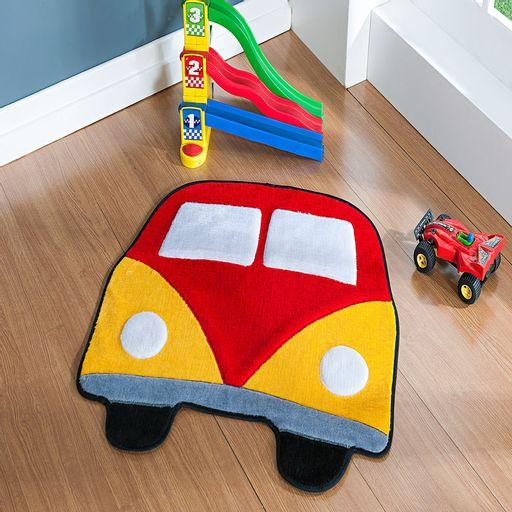 Tapete-Premium-Baby-Kombi-66cm-x-66cm-Vermelho-Guga-Tapetes