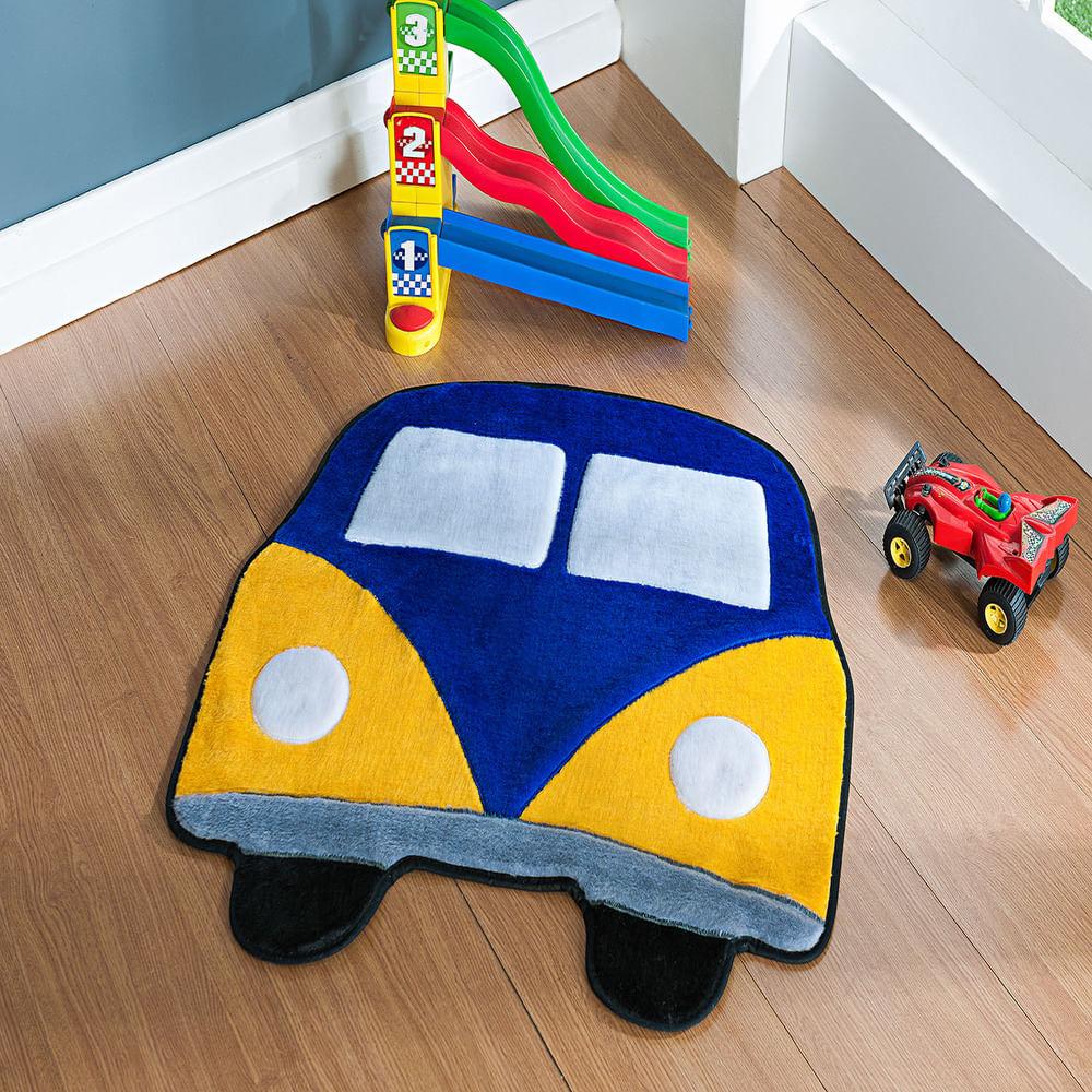Tapete Premium Baby Kombi 66cm x 66cm Azul Royal Guga Tapetes