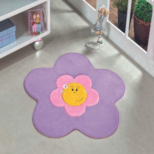Tapete-Premium-Baby-Menina-Flor-70cm-x-70cm-Lilas-Guga-Tapetes